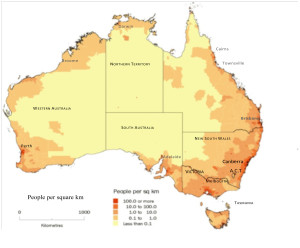 Australian Indigenous HealthBulletin The Tyranny Of Distance - Australia population density map 2015